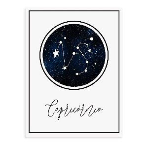 Placa decorativa Constelação Capricórnio