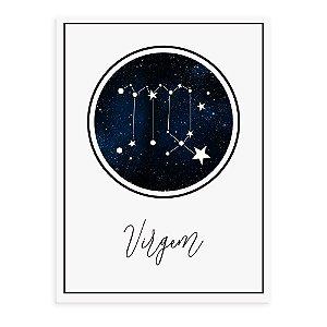 Placa decorativa Constelação Virgem