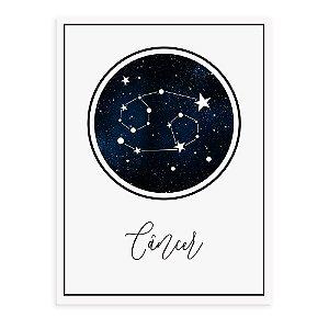 Placa decorativa Constelação Câncer