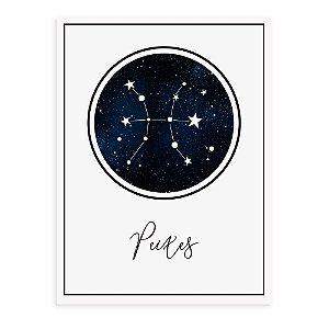 Placa decorativa Constelação Peixes