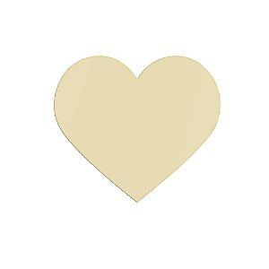 Espelho Dourado Coração
