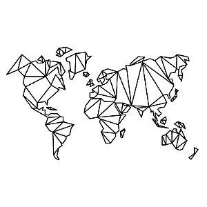 Mapa Geométrico PEQUENO PRETO