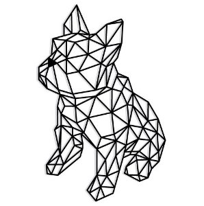 Bulldog sentado Geométrico