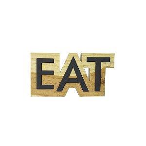 Palavra em madeira pinus EAT