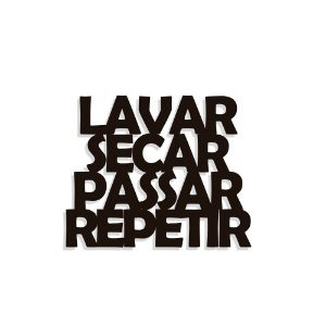 Lettering Lavar Secar Passar Repetir