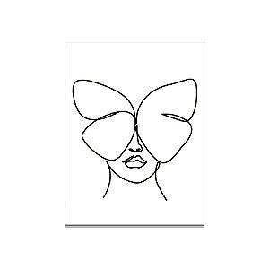 Placa Oneline Borboleta (30x40cm)