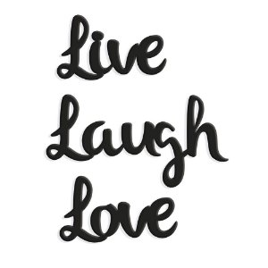 Lettering Live Laugh Love