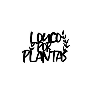 Placa decorativa loucO por plantas
