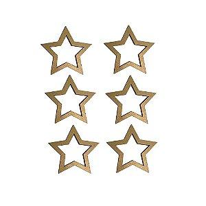 Estrela dourada Porta Guardanapo  cj 6