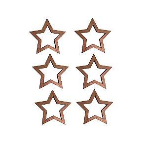 Estrela Cobre Porta Guardanapo cj 6