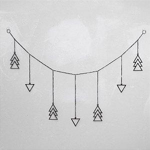 Móbile Triângulos Horizontal Preto