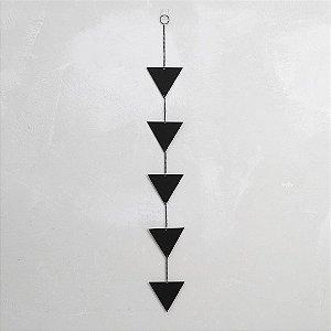 Móbile Triângulos Vertical Preto