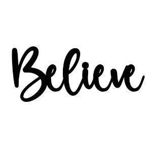 Lettering de Parede Believe