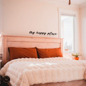 Frase de parede my happy place