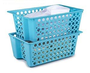 Caixa organizadora  Cesto Plástico Empilhável 4,6 LT