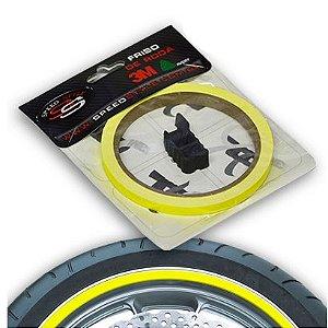 Adesivo Roda Speed Style Amarelo