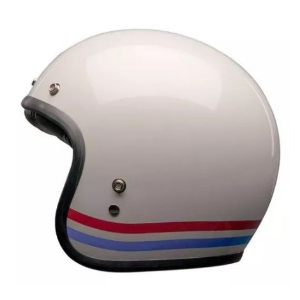 Capacete Bell Custom 500 Stripes Pearl