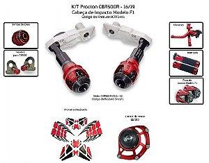 Kit Slider Cbr 500r 16 a 19 Procton (8 pçs)