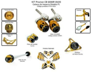 Kit Slider Cb 1000r 19/20 Procton ( 10 peças )