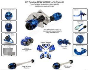 Kit Slider S1000r 14 a 16 Procton ( 14 peças)