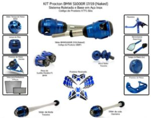 Kit Slider S1000r 17 a 19 Procton (14 peças )