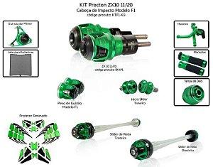 Kit Slider Zx10 11 a 20 Procton ( 11 peças)