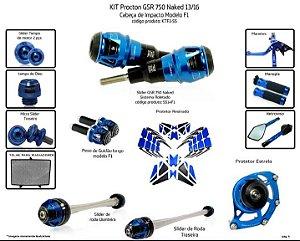 Kit Slider Gsr 750 Naked 13 a 16 Procton ( 13 peças )