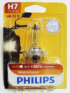 Lâmpada Farol Philips H7 55W Motovision