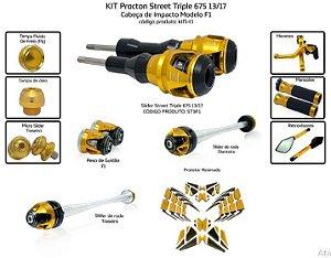 Kit Slider Street Triple 675 13 a 17 Procton ( 11 peças )