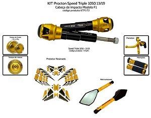 Kit Slider Street Triple 1050 13 a 19 Procton ( 7 peças )