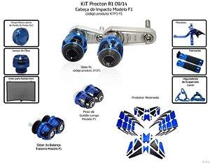 Kit Slider R1 09 a 14 Procton ( 10 peças )