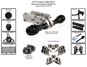 Kit Slider Xj6n 10 a 12 Procton ( 11 peças )