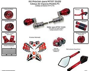 Kit Slider Mt07 15 a 20 Procton ( 11 peças )