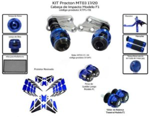 Kit Slider Mt03 17 a 20 Procton ( 10 peças )