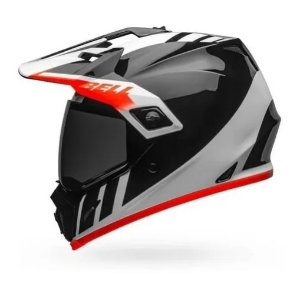 CAPACETE BELL MX 9 ADVENTURE MIPS DASH BLACK WHITE ORANGE