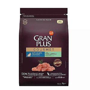 Ração GranPlus Gourmet Gatos Castrados Peru e Arroz 1kg