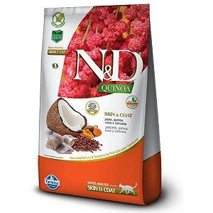 Ração N&D Quinoa Skin & Coat Gatos Adultos Peixe 400g