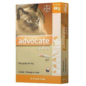 Advocate para Gatos até 4kg Antipulgas e Carrapatos 0,4ml
