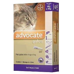 Advocate para Gatos 4 A 8kg Antipulgas e Carrapatos 0,8ml