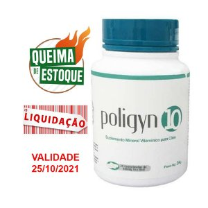 Suplemento Poligyn 10 - 30cps Nutripharme (VAL: 10/21)