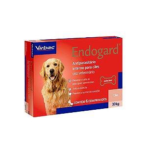 Vermífugo Endogard Cães Até 30kg 6 Comprimidos - Virbac