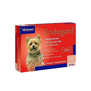Vermífugo Endogard Cães Até 2,5kg - 2 Comprimidos - Virbac