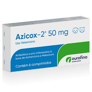 Antibiótico Azicox 50mg 6 Comprimidos - Ourofino