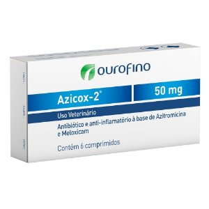 Azicox 50mg 6 Tabletes - Ourofino
