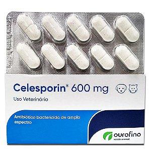 Antibiótico Celesporin 600mg - 10 Comprimidos Cartela Avulsa + Bula - Ourofino