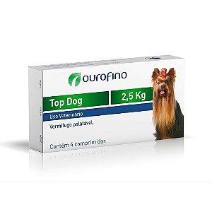 Vermífugo Top Dog 2,5kg 4 Comprimidos - Ourofino