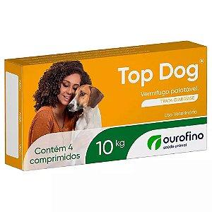 Vermífugo Top Dog 10kg 4 Comprimidos - Ourofino