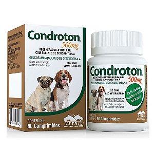 Regenerador Articular Condroton 500mg 60 Comprimidos com Sulfato de Condroitina - Vetnil