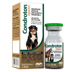 Regenerador Articular Condroton com Sulfato de Condroitina Injetável 10ml - Vetnil