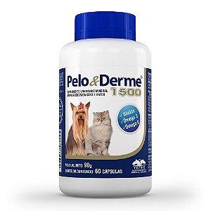 Suplemento Vitamínico Ômega Pelo E Derme 1500 - 60 Cápsulas Vetnil